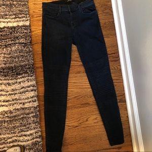 J Brand Unique Textured Dark Blue Jeans